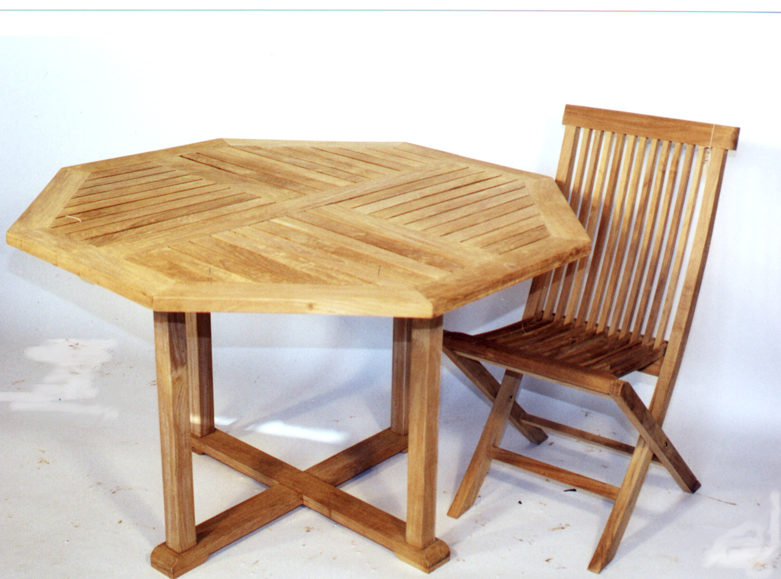 Tables Solid Teak Garden Furniture From The Wood Carver Inc - Solid teak outdoor table