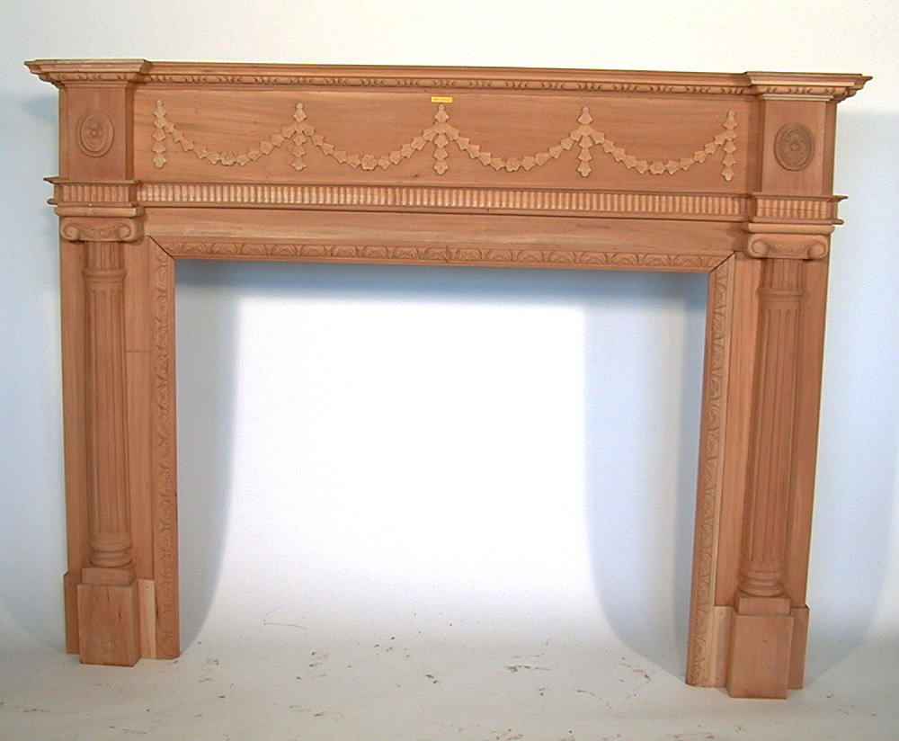 mahogany fireplace mantels